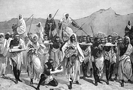 arabes transportado esclavos desde el sahara