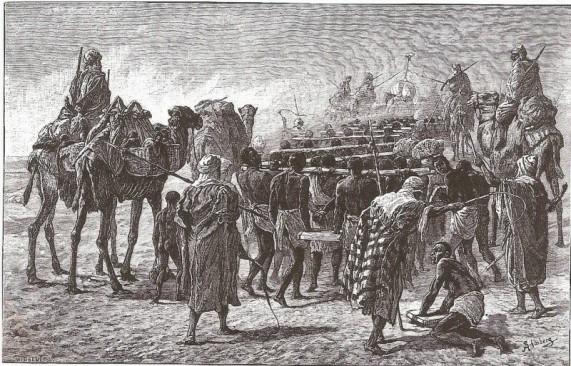 arabes transportando esclavos negros
