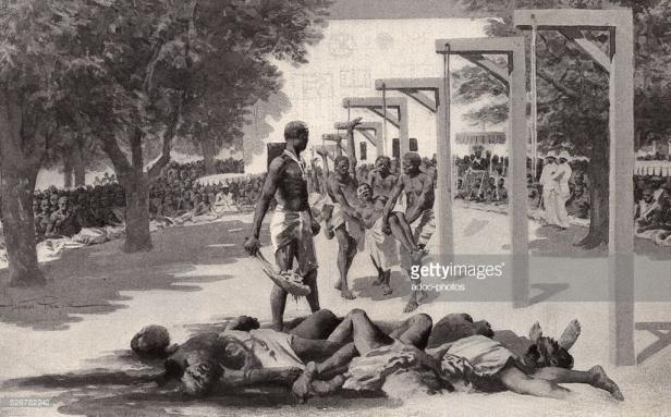 sacrificios esclavos dahomey