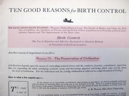 10 razones para el control de la natalidad sanger publicacion periodica