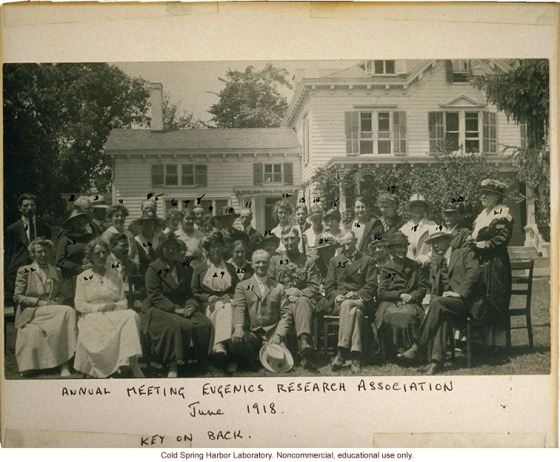 1664-Eugenics-Record-Office-Annual-Meeting-of-the-Eugenics-Research-Association-1918-Laughlin-in-front-Stewart-House-in-background