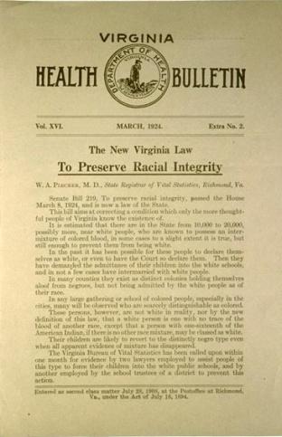 Acta de integridad racial virginia