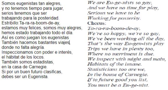 Cancion eugenistas