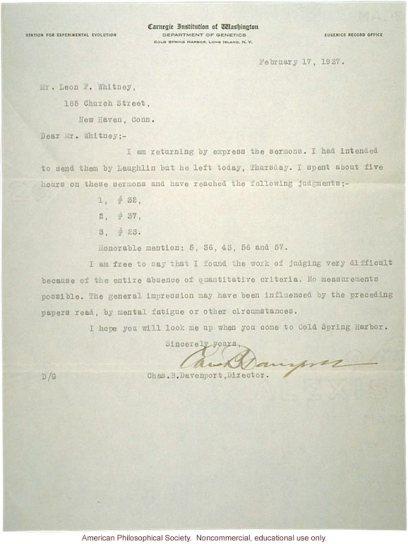 carta de davenport a leon en papel carnegie