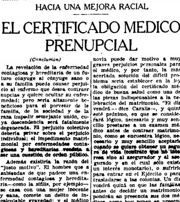 certificado medico prenupcial republica