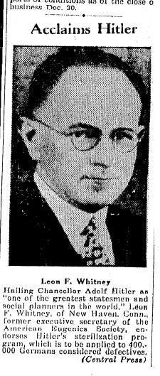 leon whitney aclama a hitler