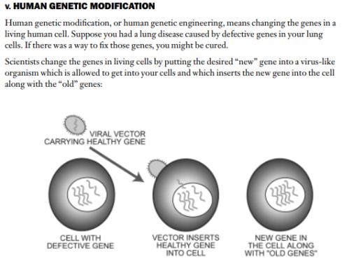 modificacion genes humanos