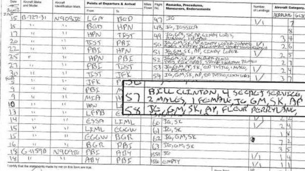 registro avion spacey epstein